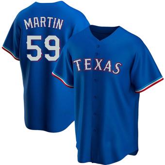 Men's Brett Martin Texas Royal Replica Alternate Baseball Jersey (Unsigned No Brands/Logos)