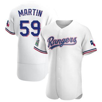 Men's Brett Martin Texas White Authentic Home Baseball Jersey (Unsigned No Brands/Logos)