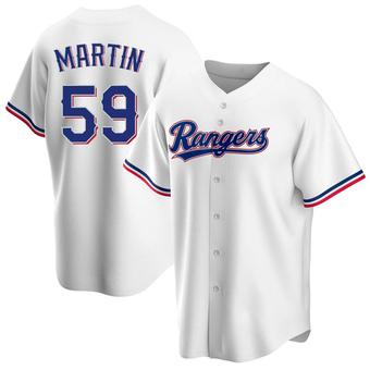 Men's Brett Martin Texas White Replica Home Baseball Jersey (Unsigned No Brands/Logos)