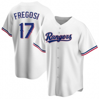 Men's Jim Fregosi Texas White Replica Home Baseball Jersey (Unsigned No Brands/Logos)