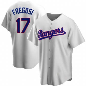 Men's Jim Fregosi Texas White Replica Home Cooperstown Collection Baseball Jersey (Unsigned No Brands/Logos)