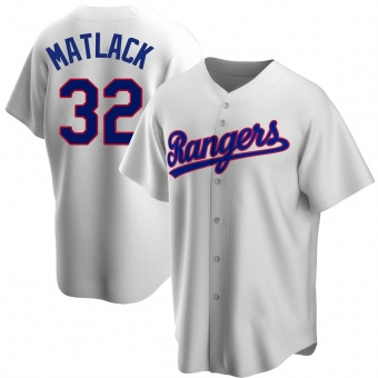 Men's Jon Matlack Texas White Replica Home Cooperstown Collection Baseball Jersey (Unsigned No Brands/Logos)