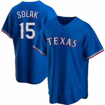 Men's Nick Solak Texas Royal Replica Alternate Baseball Jersey (Unsigned No Brands/Logos)