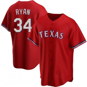 Men's Nolan Ryan Texas Red Replica Alternate Baseball Jersey (Unsigned No Brands/Logos)