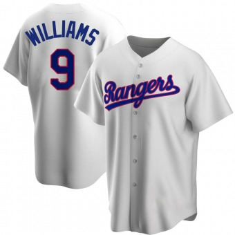 Men's Ted Williams Texas White Replica Home Cooperstown Collection Baseball Jersey (Unsigned No Brands/Logos)