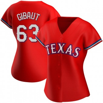 Women's Ian Gibaut Texas Red Replica Alternate Baseball Jersey (Unsigned No Brands/Logos)