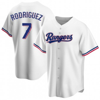 Youth Ivan Rodriguez Texas White Replica Home Baseball Jersey (Unsigned No Brands/Logos)