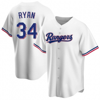 Youth Nolan Ryan Texas White Replica Home Baseball Jersey (Unsigned No Brands/Logos)