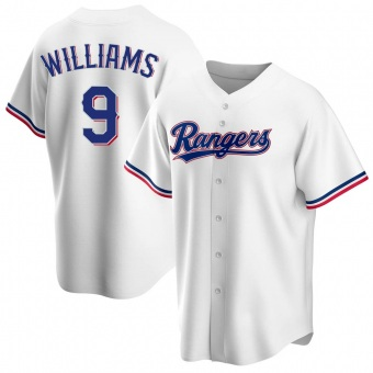 Youth Ted Williams Texas White Replica Home Baseball Jersey (Unsigned No Brands/Logos)